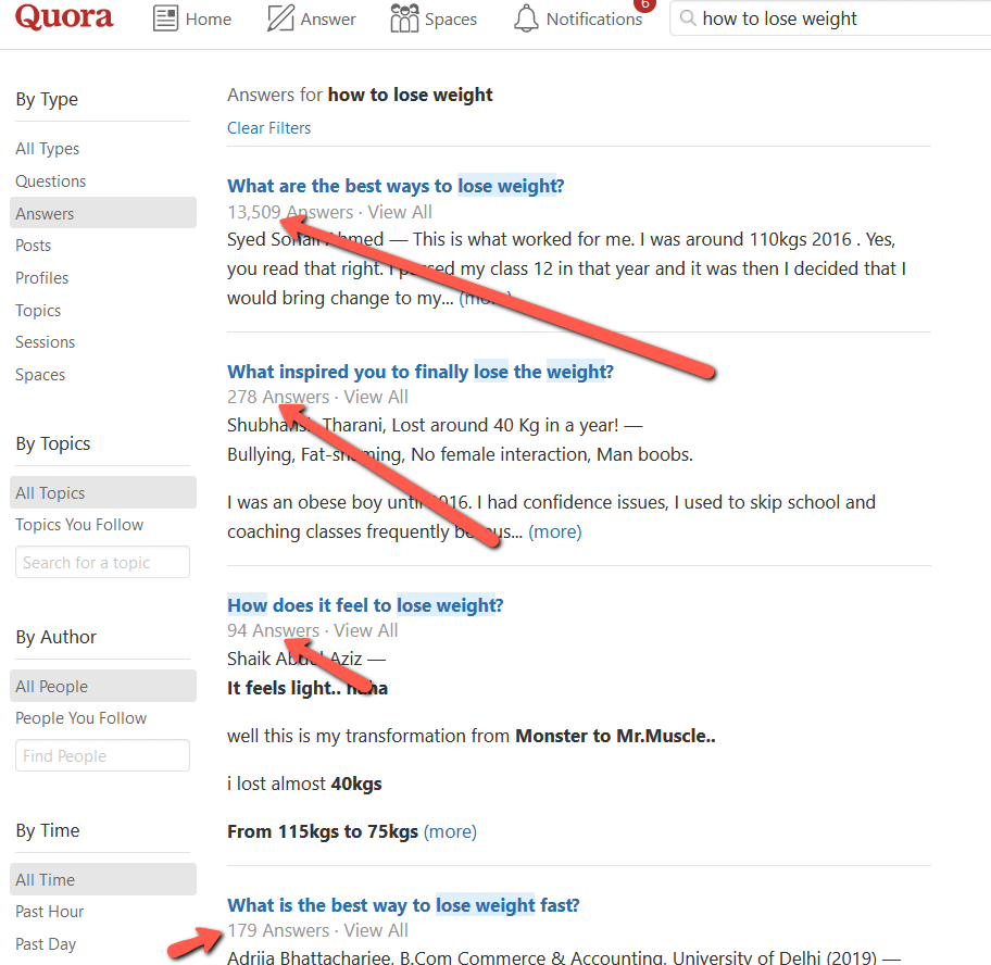 Quora Lose Weight Answers
