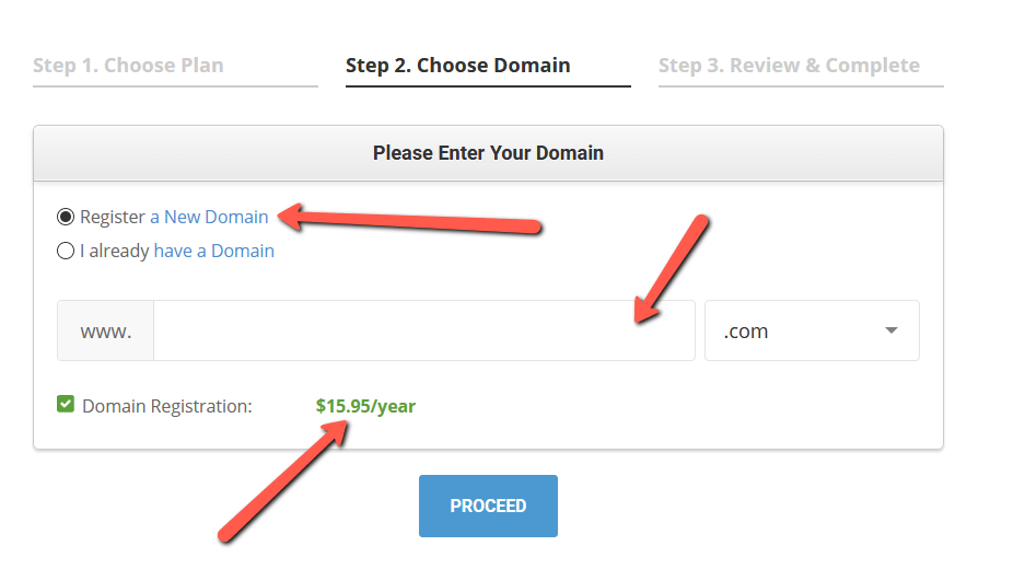 Siteground Domain Pricing